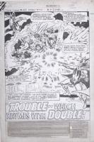 Teen Titans #47, PG.1 Title Splash Page. Comic Art
